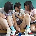 Hotaru Yukino Asian sucks tool and finger of teacher in classroom