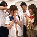Japanese AV Model and gals are undressed of uniform by hunks