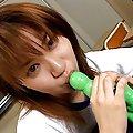 Yuu Namiki Asian licks and strokes two shlongs in the classroom