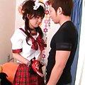 Hikaru Ayuhara gets a sex toy while she does her homework