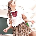 Miyu Hoshino Asian schoolgirl is roughly banged in the classroom