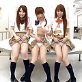 Ami Hinata schoolgirl cutie plays with a large vibrator