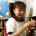 Aya Natsuki Asian strokes cock of stranger through shutters