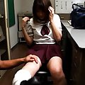 Arisa Yoshikawa Asian is undressed and has chest in bar shown