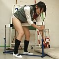 Japanese AV Model rubs crack over panty of things at locker room