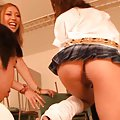 Rena Konishi Asian and gal with nude pussies play with fellow