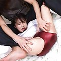 Risa Hano Asian has pussy touched over panty and t-shirt cut
