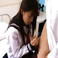 Hikaru Ayuhara Asian in sailor gal uniform is fingered in twat