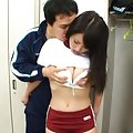 Mao Kurata Asian is caught at locker room and has boobs touched