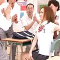 Misa Tachibana Asian in sexy uniform turns her colleagues on