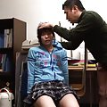 Japanese AV Model passes medical checking by giving fine blowjob