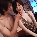 Yuria Satomi Asian in black stockings has juicy cans licked