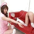 Arisa Aoyama Bad Asian nurses experimenting with enemas on break from work