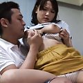 Ai Kanazaki Asian is kissed and has generous bust licked by man