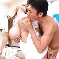 Hitomi Tanaka Asian with huge chest sticks cock in her vagina