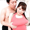 Kurumi Kokoro Asian has huge tits touched over top and sucked
