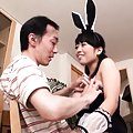 Ai Satou Asian with bunny ears has big boobs touched by fellow