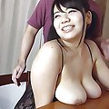 Azusa Nagasawa Asian with huge boobs plays with condom after fuck
