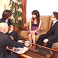 Slutty Japanese cock tease gets her pussy rammed by a big horny guy\'s hard cock