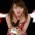 Asuka Kyono sexy Asian teen enjoys her interesting pussy toys