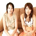 Lovely Asian teen lesbians enjoy getting their tight anuses fingered