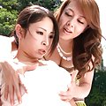 Minami Ayase Asian has big knockers fondled by dame outdoor