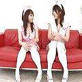 Arisa Aoyama Asian nurses get close up of an anus to discuss on break