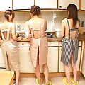 Aya Hirai almost naked with her lesbian friends in this video