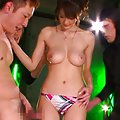 Erika Kirihara topless and showing off her large breasts