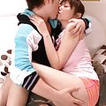 An Nanairo makes out with the stud before he plays with her ass