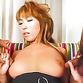 Miu Satsuki massive boobs groped by two horny guys