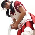Yuuri Hozumi Asian cleans the house and rides boner under uniform