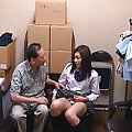 Rin Suzune Asian in long socks gets dong in mouth and cum on cans