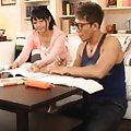 Kokoro Kawai Asian has nipples sucked by her homework partner