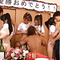 Japanese AV Model and dolls have boobs sucked by fellows in orgy