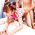 Rika Sakurai rides cock then lays on her back to get fucked hard