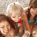 Satou Haruka Asian and babes are undressed and fucked at party