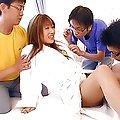 Karin Kusunoki Asian doll enjoys sucking cock and a hard fucking